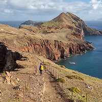 View from Mount Pico do Furado to the unaccessible eastern part of the island.