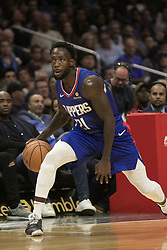 October 19, 2018 - Los Angeles, California, U.S - Patrick Beverley #21 of the Los Angeles Clippers with the ball during their NBA game with the Oklahoma Thunder on Friday October 19, 2018 at the Staples Center in Los Angeles, California. Clippers defeat Thunder, 108-92. (Credit Image: © Prensa Internacional via ZUMA Wire)