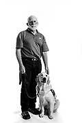 Larry D. Baker<br /> Service Dog: Jag<br /> Army<br /> E-5<br /> Infantry<br /> 03/65-04/69<br /> Vietnam War<br /> <br /> Veterans Portrait Project Photo by Stacy L. Pearsall