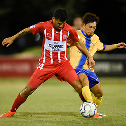 BRISBANE, AUSTRALIA - MAY 5:  during the FFA Cup Fifth Round match between Olympic FC and Centenary Stormers on May 5, 2018 in Brisbane, Australia. (Photo by Olympic FC / Patrick Kearney)