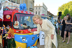 ANNABEL ELLIOT at the Quintessentially Foundation and Elephant Family 's 'Travels to My Elephant' Royal Rickshaw Auction presented by Selfridges and hosted by HRH The Prince of Wales and The Duchess of Cornwall held at Lancaster House, Cleveland Row, St.James's, London on 30th June 2015.