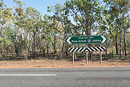 Sign for the Kakadu Highway in Australia's Northern Territory