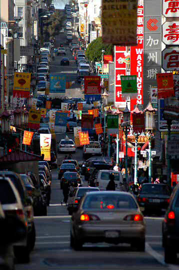 Street scene in China Town, San Francisco, California
