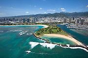 Magic island, Waikiki, Honolulu, Oahu, Hawaii