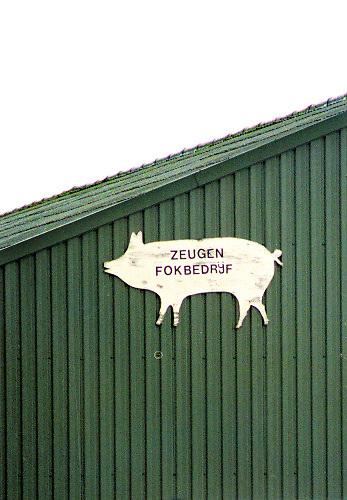 Nederland, Vredepeel, 20-03-2001 Varkensstal. Intensieve veehouderij, mond en klauwzeer. Oost Brabant. Container aan de kant van de weg voor dood vee, dat door het destructiebedrijf wordt opgehaald. MKZ. The Netherlands, 20-3-2001 The end. Container fot dead animals at a farm for pigs. Foot and mouth disease. Foto: Flip Franssen/Hollandse Hoogte