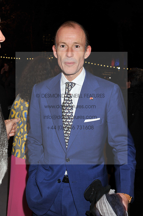 PRINCE KYRIL OF BULGARIA at a private view of 'Valentino: Master Of Couture' at Somerset House, London on 28th November 2012.