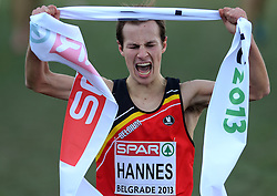 08-12-2013 ATHLETICS: SPAR EC CROSS COUNTRY: BELGRADE<br /> -23 Mannen op de 8 km / Winnaar Pieter Jan Hannes BEL<br /> ©2013-WWW.FOTOHOOGENDOORN.NL