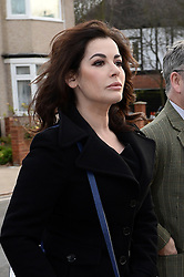 TV Chef Nigella Lawson arrives at Isleworth Crown Court to give evidence at the trial for Francesca and Elisabetta Grillo, the former aides of Charles Saatchi and Nigella Lawson who allegedly defrauded the couple out of money using company credit cards. Isleworth Crown Court. Thursday, 5th December 2013. Picture by Ben Stevens / i-Images<br />