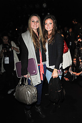 Left to right, BRYONY DANIELS and LADY NATASHA RUFUS-ISAACS at the ISSA show as part of London Fashion Week 2010 held at Somerset House, The Strand, London on 23rd February 2010.