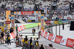 Cecilie Uttrup Ludwig crosses the line at La Course High Speed Pursuit 2017 - a 22.5 km pursuit road race on July 22, 2017, in Marseille, France. (Photo by Sean Robinson/Velofocus.com)