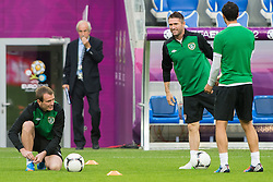 09.06.2012, Stadion Miejski, Poznan, POL, UEFA EURO 2012, Tschechische Republik, Training, im Bild GLENN WHELAN, ROBBIE KEANE  during the during EURO 2012 Trainingssession of Ireland Nationalteam, at the stadium Miejski, Poznan, Poland on 2012/06/09