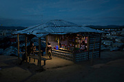 Children are seen in a kiosk in Balukhali, part of a refugee camp sheltering over 800,000 Rohingya refugees, in Cox's Bazar, Bangladesh, June 27, 2018. About 700,000 Rohingya have fled to Bangladesh since August last year after a string of attacks by insurgents triggered a violent response by the army in Myanmar.