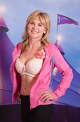 """© Licensed to London News Pictures. 12/05/2012. London, England. TV Presenter Anthea Turner. The MoonWalk London 2012, Celebrating 15 years of Moon Walking for the breast cancer charity """"Walk the Walk"""". Photo credit: Bettina Strenske/LNP"""