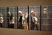 JADE CAFFOOR; CHRIS O'REILLY, Opening of Eadweard Muybridge and Rachel Whiteread exhibitions. Tate Britain. Millbank. 6 September 2010. -DO NOT ARCHIVE-© Copyright Photograph by Dafydd Jones. 248 Clapham Rd. London SW9 0PZ. Tel 0207 820 0771. www.dafjones.com.