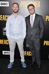 """(L-R) Evan Goldberg and Seth Rogen together at AMC's """"Preacher"""" Season 2 Premiere Screening held at the Theater at the Ace Hotel in Los Angeles, CA on Tuesday, June 20, 2017.  (Photo By Sthanlee B. Mirador) *** Please Use Credit from Credit Field ***"""