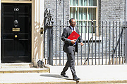 London, United Kingdom, May 28, 2021: British Conservative Party politician serving as Secretary of State for Business, Energy and Industrial Strategy Kwasi Alfred Addo Kwarteng leaves Number Ten Downing Street in London on Friday, May 28, 2021. (Photo by Vudi Xhymshiti)