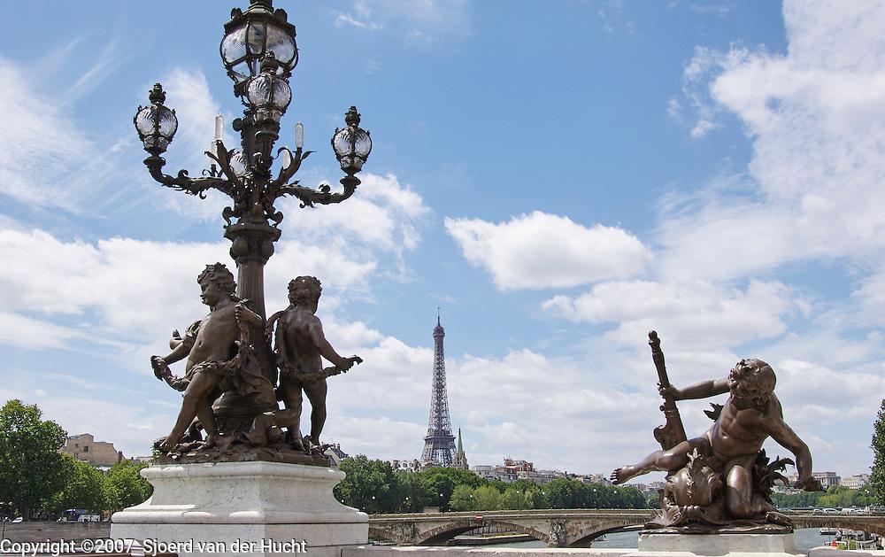 Pont Alexandre III over the Seine, Paris, France