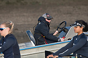 Putney, London,  Tideway Week, OUWBC. Oxford Chief Coach, Ali WILLIAMS.<br /> <br /> Championship Course. River Thames, <br /> <br /> Tuesday  28/03/2017<br /> [Mandatory Credit; Credit: Peter Spurrier/Intersport Images.com ]