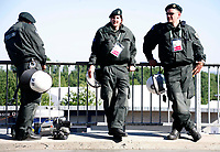 Photo: Steve Bond.<br /> USA v Czech Republic. Group E, FIFA World Cup 2006. 12/06/2006.<br /> Another quiet day for the German police in Gelsenkirchen before USA v Czech Republic.