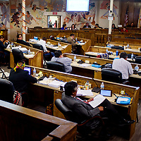 Navajo Nation council delegates attend a Navajo Nation Council meeting in Window Rock Monday.