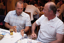 Bjorn Hansen and Magnus Holmberg at a Dinner for skippers and VIPs. Portimao Portugal Match Cup 2010. World Match Racing Tour. Portimao, Portugal. 26 June 2010. Photo: Gareth Cooke/Subzero Images