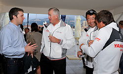 Peter Gilmour and his Yanmar Racing team at  the cocktail party. Photo: Chris Davies/WMRT