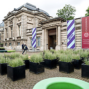 The entrance of the museum devoted to Coudenberg, the former Palace of Brussels. The archaeological site and museum sits next to the current Royal Palace of Brussels.