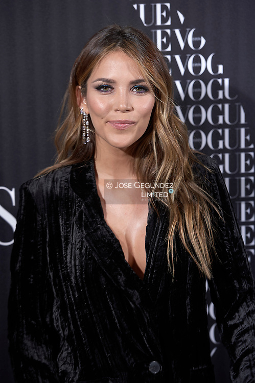 Rosanna Zanetti attends a Vogue Spain magazine dinner honouring Victoria Bekcham at Santo Mauro Hotel on January 18, 2018 in Madrid