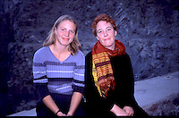 Norwegian judo trainers visiting Kabul, Afghanistan, as a part of tha Judo for fred (Judo for peace) program....- ....Norske judotrenere på besøk i Kabul, Afghanistan, ifm Judo for fred (JFF)....-....Birgit Ryningen (left) and Vibeke Thiblin (right) in Afghanistan