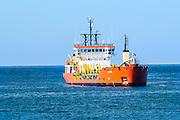 EDT SIMI - A Hopper Dredger anchored off the coast of Tel Aviv, Israel