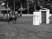 Furstenberg Dublin Show Chase.   (R39)..1986..06.08.1986..08.06.1986..6th August 1986..At the Dublin Horse show Furstenberg sponsored a team event , The Dublin Show Chase. Various teams competed against each other and against the clock to determine the winner..In the series of images we see the teams and officials who took part, we also see the winners being presented with their prizes. Unfortunately we do not hav the caption sheet to name the people involved. if you know them let us know at irishphotoarchive@gmail.com and we will gladly add them.