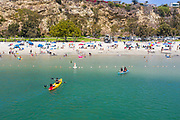 Kayakers and Paddle Boarders at Baby Beach Dana Point