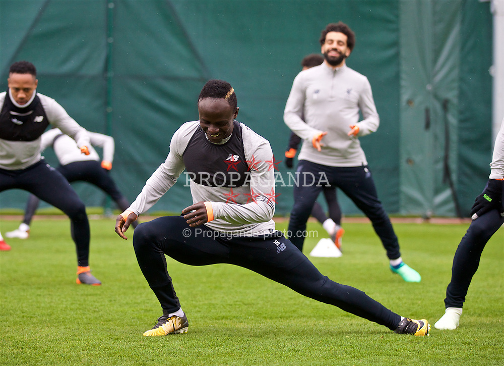 LIVERPOOL, ENGLAND - Monday, April 9, 2018: Liverpool's Sadio Mane during a training session at Melwood Training Ground ahead of the UEFA Champions League Quarter-Final 2nd Leg match between Manchester City FC and Liverpool FC. (Pic by David Rawcliffe/Propaganda)