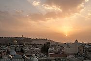 Jerusalem from a rooftop near the Jaffa Gate