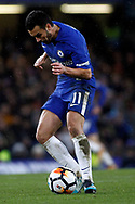 Pedro of Chelsea in action. The Emirates FA Cup, 3rd round replay match, Chelsea v Norwich City at Stamford Bridge in London on Wednesday 17th January 2018.<br /> pic by Steffan Bowen, Andrew Orchard sports photography.