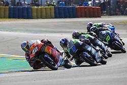 May 20, 2018 - Le Mans, France - 40 DARRYN BINDER (ZAF) RED BULL KTM AJO (FIN) KTM RC250GP (Credit Image: © Panoramic via ZUMA Press)