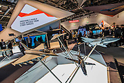 The Bae Systems Stand - The DSEI (Defence and Security Equipment International) exhibition at the Excel Centre, Docklands, London UK 15 Sept 2015