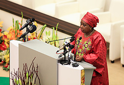 MALABO, June 26, 2014  African Union (AU) Commission Chairperson Nkosazana Dlamini-Zuma addresses the opening ceremony of the 23rd Ordinary Session of the Assembly of African Union (AU) in Malabo, capital of Equatorial Guinea, June 26, 2014. The 23rd Ordinary Session of the Assembly of the AU kicked off here on Thursday with the theme of ''Agriculture and Food Security' (Credit Image: © Meng Chenguang/Xinhua/ZUMAPRESS.com)
