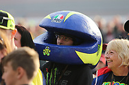 Rossi fan during the Day of Champions charity auction at the Go Pro British MotoGP at Silverstone, Towcester, United Kingdom on 22 August 2019.
