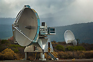 Radio Telescope receiving dishes at the UC Radio Astronomy Observatory, Hat Creek, Shasta County, California