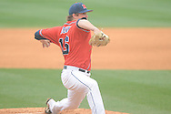 Ole Miss' Matt Denny (16) pitches vs. Lipscomb at Oxford-University Stadium in Oxford, Miss. on Sunday, March 10, 2013. Ole Miss won 9-8. The Rebels improve to 16-1.