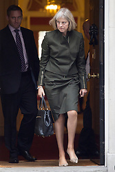 © licensed to London News Pictures. London, UK 08/10/2013. Theresa May, Home Secretary attending to a cabinet meeting in Downing Street on Tuesday, 8 October 2013. Photo credit: Tolga Akmen/LNP