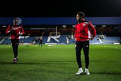 Tammy Abraham and Korey Smith of Bristol City warm up - Rogan Thomson/JMP - 18/10/2016 - FOOTBALL - Loftus Road Stadium - London, England - Queens Park Rangers v Bristol City - Sky Bet EFL Championship.