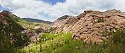 Granite rock domes in the Lost Creek valley, Lost Creek Wilderness, Colorado.