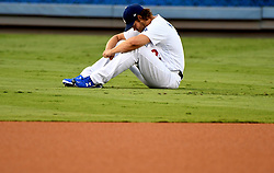 September 7, 2017 - Los Angeles, California, U.S. - Los Angeles Dodgers starting pitcher Clayton Kershaw warms up in the outfield prior to a Major League baseball game against the Colorado Rockies at Dodger Stadium on Thursday, Sept. 07, 2017 in Los Angeles. (Photo by Keith Birmingham, Pasadena Star-News/SCNG) (Credit Image: © San Gabriel Valley Tribune via ZUMA Wire)