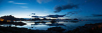 Summer evening twilight, Stamsund, Lofoten Islands, Norway