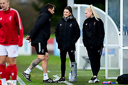 Chris Difford, Carla Humphrey of Bristol City and Jesse Woolley of Bristol City - Mandatory by-line: Ryan Hiscott/JMP - 08/12/2019 - FOOTBALL - Stoke Gifford Stadium - Bristol, England - Bristol City Women v Birmingham City Women - Barclays FA Women's Super League