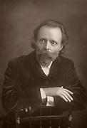 (Thomas Henry) Hall Caine (1853-1931) English novelist.  Companion of Dante Gabriel Rossetti at the end of the latter's life (1881-1882).  From 'The Cabinet Portrait Gallery' (London, 1890-1894).  Woodburytype after photograph by W & D Downey.