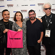 David Martiner, Denise Parkingson and Elliot Grove attends Raindance Film Festival Gay Times Gala screening - George Michael: Freedom (The Director's Cut) London, UK. 4th October 2018.