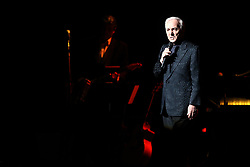 French singing legend Charles Aznavour performs at The Madison Square Garden, as part of his Farewell Tour, in New York City, NY, USA, on September 20, 2014. Photo by Charles Guerin/ABACAPRESS.COM